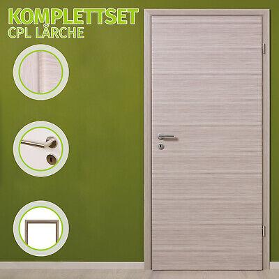 Zimmertür Innentür Komplettset Tür mit Zarge HORI CPL Lärche Türgriff