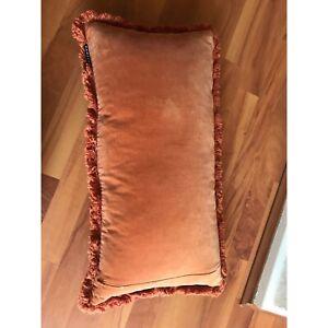 Bambury rectangular velvet feather filled cushion