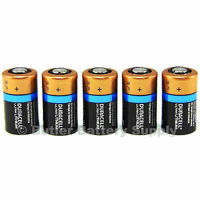5 x CR2 Duracell 3V Ultra Lithium Batteries ( DLCR2, CR17355, ELCR2, Med, Photo)