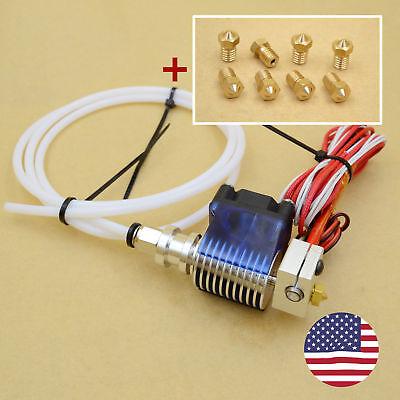 All Metal V6 Bowden Hotend J-head extruder+8PCS Nozzles 3D printer parts Reprap