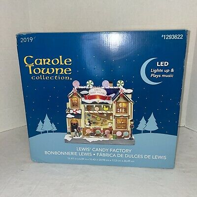 Carole Towne Collection Lewis' Candy Factory LED Plays Music Lights Up 2019 NEW