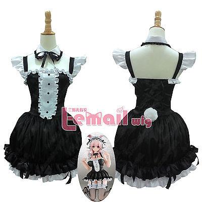 Super Sonico Sonico Rabbitgirl Maid Dress Cosplay costume Custom GK Ver - Custom Maid Kostüm
