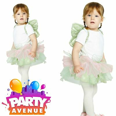 Disney Official Baby Toddler Tinkerbell Tutu and Wings Fancy Dress Costume Set ()