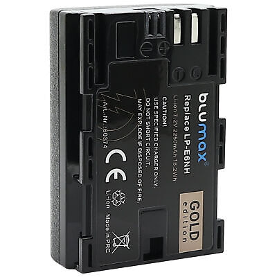 Akku für Canon LP-E6NH 2250mAh EOS R5 R6 80D 7D Mark III...
