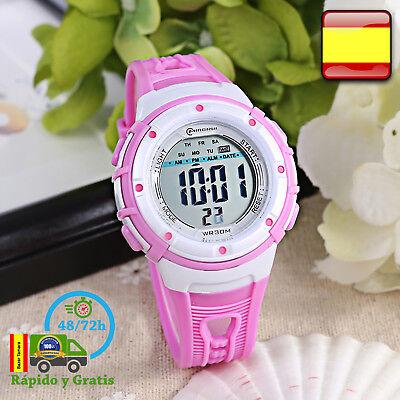Reloj de Niña Digital Infantil Deportivo Fucsia Relojes Multifunción Para Niñas