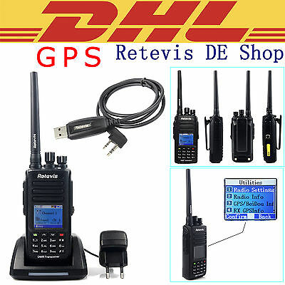 IP67 Waterproof Retevis RT8 UHF DMR Digital Walkie Talkie with GPS Function DE