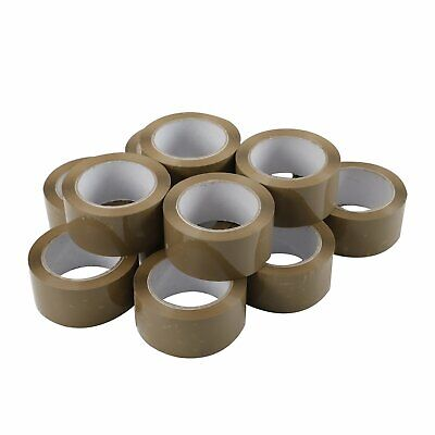 12 Rolls Carton Sealing Brown Packingshippingbox Tape 2.5 Mil- 2 X 110 Yards