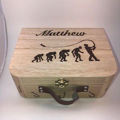 Personalized Tackle Box (Fishing Tackle Float Box Fly Box Reel Box Personalised Box with)