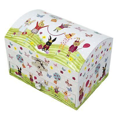 Childrens Bunny (Girl Childrens Bunny Musical Jewellery Box Waltz Of The Flowers Jewelry)