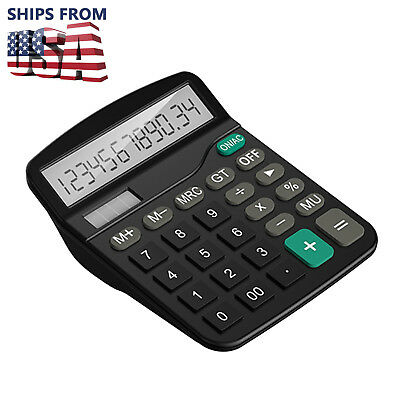 US New Standard Function Business Desktop Calculator 12-digit LCD Display