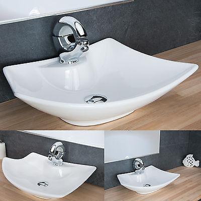 Design Aufsatzwaschbecken Waschschale Keramik Waschtisch Badezimmer Waschplatz