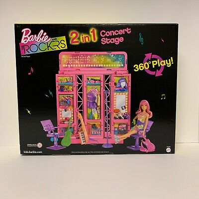 Barbie And The Rockers 2 In 1 Concert Stage With Doll New