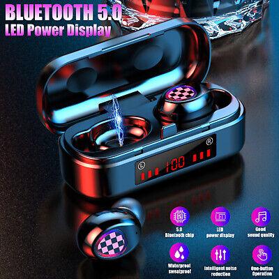 Bluetooth 5.0 Headset TWS Wireless Earphones Mini Stereo Spo