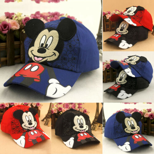 ... Kids Boys Girl Mickey Mouse Baseball Cap Hip Hop Sport Toddler  Snapbacks Sun Hat фото ed05f4b70f30
