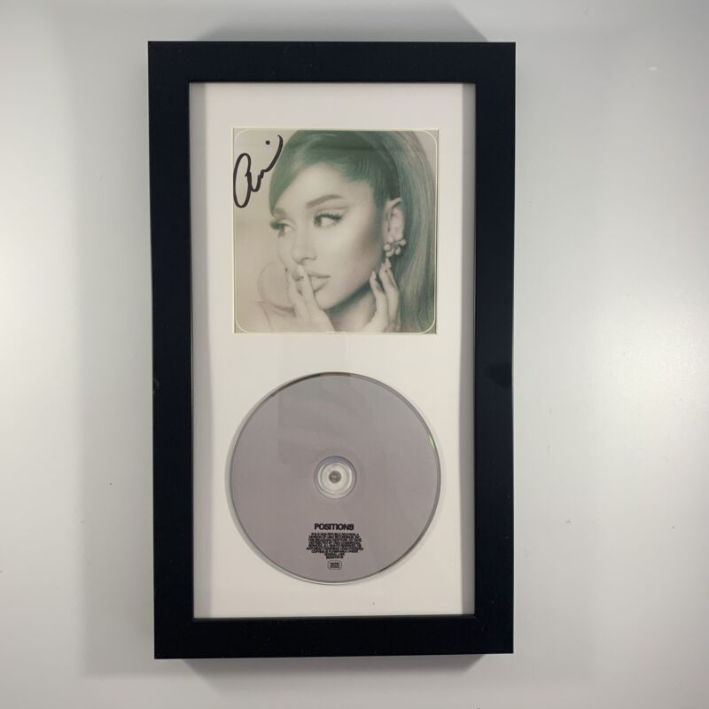 Ariana Grande Signed Autographed Positions Framed CD In Hand Ready To Ship