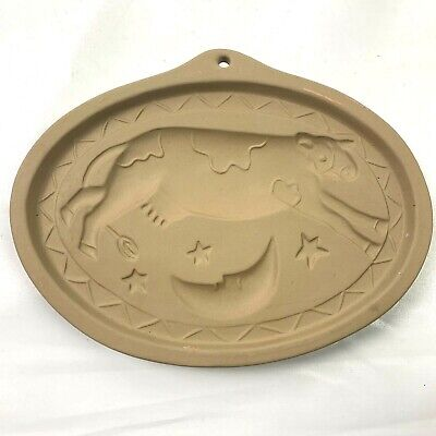 1993 Brown Bag Cookie Art Cookie Mold Cow Jumped Over The Moon Hill Design