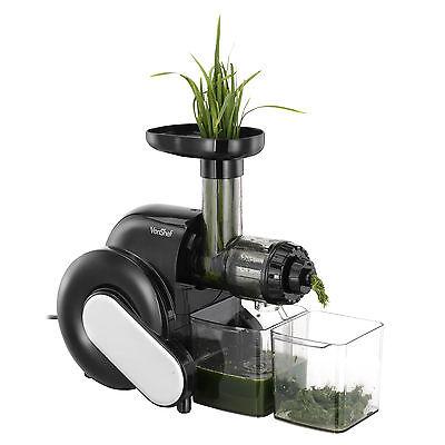 VonShef Slow Juicer Horizontal Masticating Juice Extractor Wheatgrass Fruit