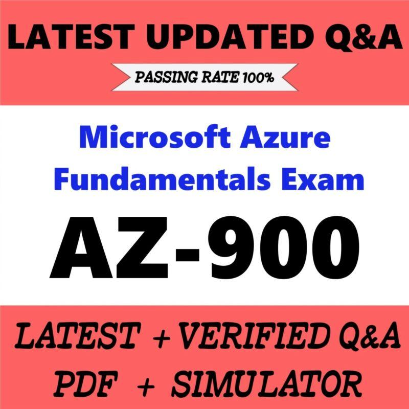 AZ-900 Microsoft Azure Fundamentals Exam