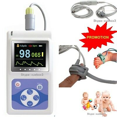 Hot Infant/Neonatal pulse oximeter PR animal tongue ear spo2 probe+software,NEw for sale  China