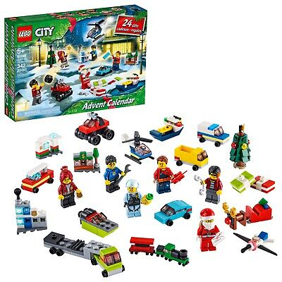 LEGO CITY Series 60268 Christmas Advent Calendar 342pc Building Toy Set 24 Gifts