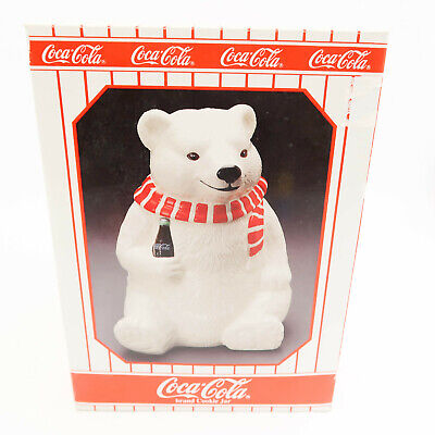 Vintage Coca Cola White Polar Bear Cookie Jar Always Cool New great Gift