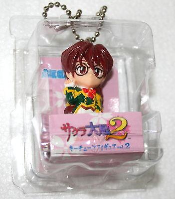 "Sakura Wars 2 Keychain 1998 Sega 3"" Video Game Anime Figure Mint Kohran New"
