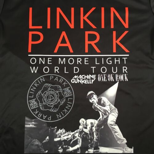 Linkin Park One More Light World Tour Concert T-Shirt Black Sz M - MGK