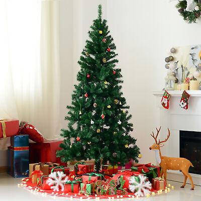 HOMCOM Árbol de Navidad 180cm 624 Ramas Decoración Soporte Incluido Árbol Abeto