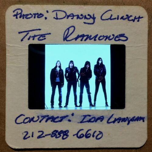 "THE RAMONES : Color 35mm ""PRESS PHOTO"" Slide @ 80s/90s Vintage PUNK ROCK Music"