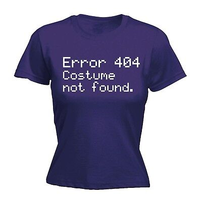 Women's Error 404 Costume Not Found Funny Halloween Geek Nerd IT FITTED (Error Fitted T-shirt)