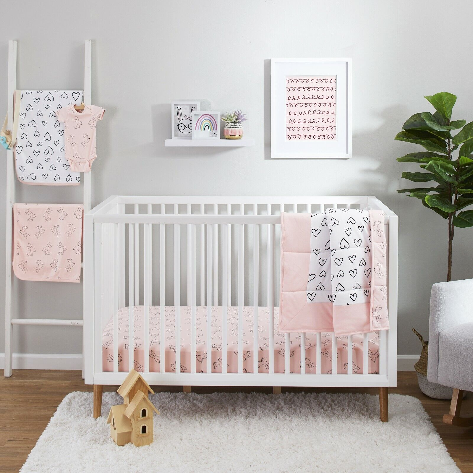 BRAND NEW Little Star Organic Pure Organic Cotton Crib Bedding Set, 3 Pc - $49.00
