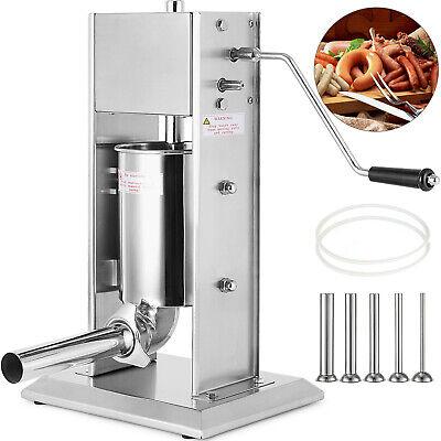 5l Vertical Commercial Sausage Stuffer Meat 304 Stainless Steel Filler 2 Speeds