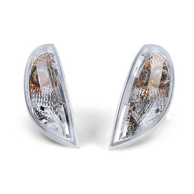 Klarglas Blinker chrom mit Leuchtmittel für Mercedes SLK R170 96-04