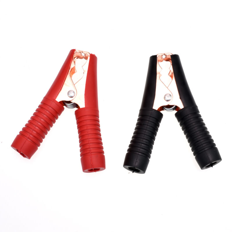 2pcs 100A Electrical Crocodile Alligator Car Battery Insulated Test Lead Clips