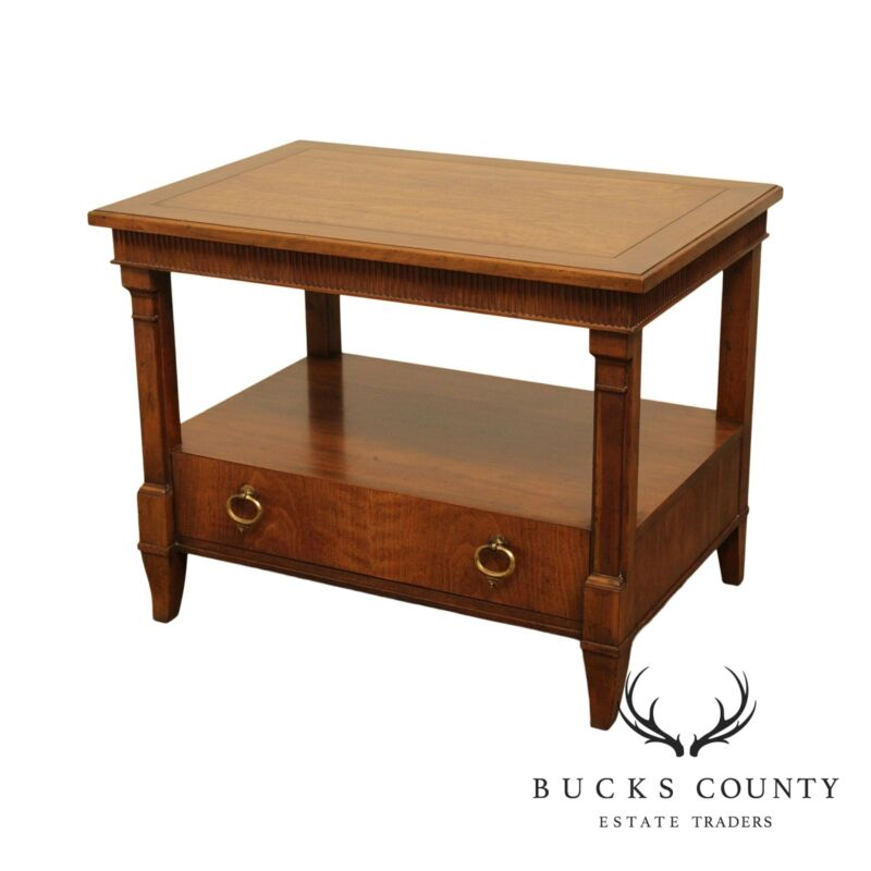 Baker Vintage Walnut French Empire Style Nightstand