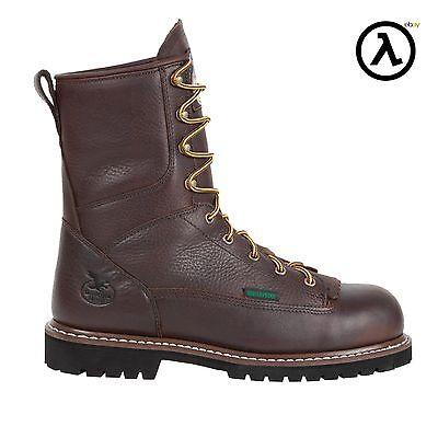 GEORGIA STEEL TOE WATERPROOF LOW HEEL LOGGER WORK BOOTS G103 * ALL SIZES - NEW Low Steel Toe Boot