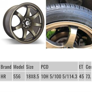 """5x114.3 RH 18"""" wheels with Brand new tyres"""