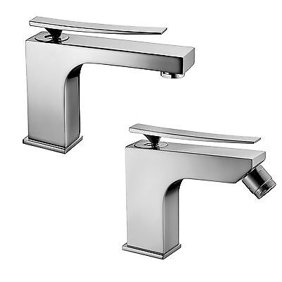 Set rubinetti miscelatori bagno design moderno per lavabo e bidet Paffoni