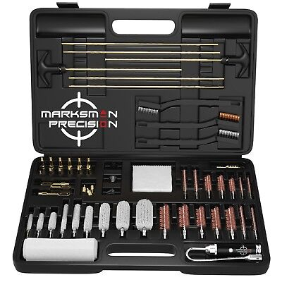 Marksman Precision Universal Gun Cleaning Kit - CNC Machined BRASS Jags & Tips!+