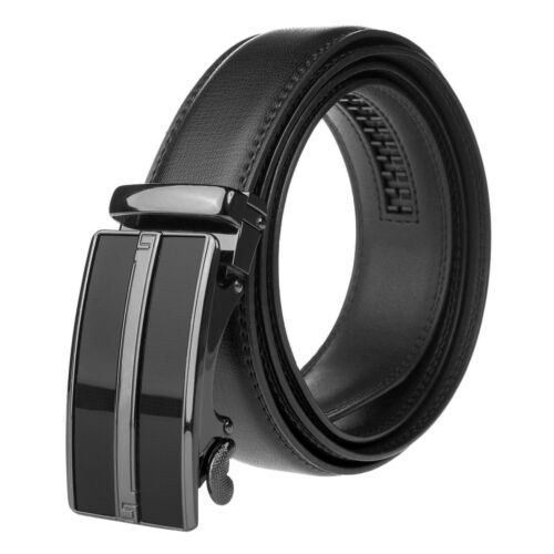 Adjustable Ratchet Belt, 35mm Automatic Leather Buckle & Strap, Dress & Casual