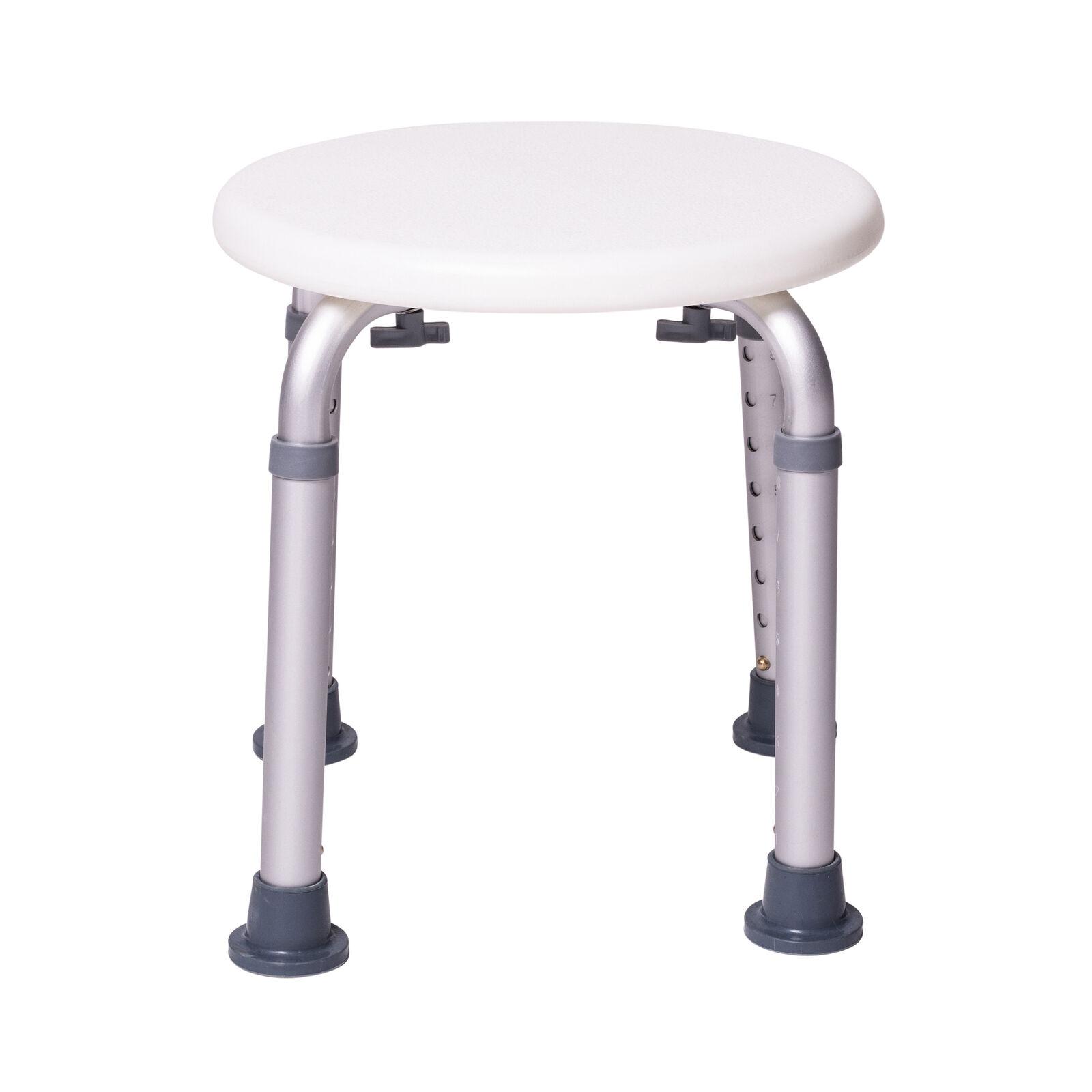 ONVAYA® Duschhocker rund weiß | 150kg | höhenverstellbar | Duschsitz | Badhocker