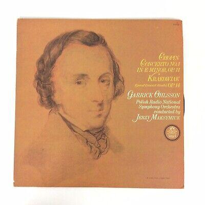 Chopin Concerto No 1 In E Minor Garrick Ohlsson Polish Radio Angel SQ S 37179
