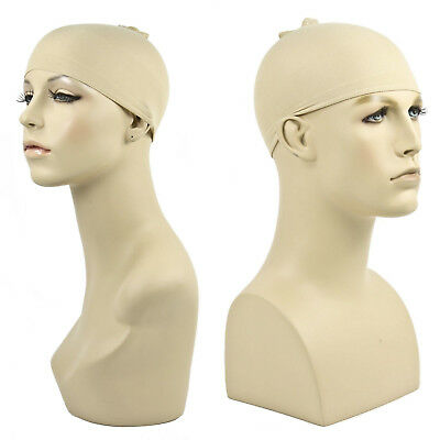 Nude Wig Cap High Quality Theatrical Costume Manage Hair Men Women Adult Stretch (High Quality Costume Wigs)