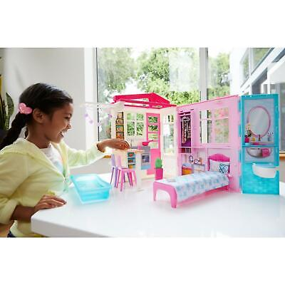 Barbie Doll House Folding Furniture Accessories Girls Playset Kids Dollhouse Toy