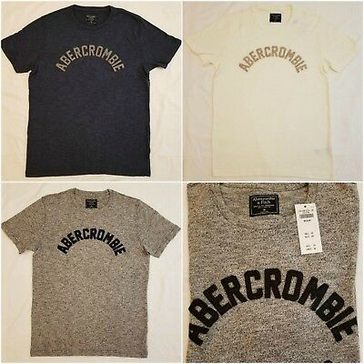 NWT ABERCROMBIE & FITCH MENS SWEATER KNIT APPLIQUE LOGO TEES MED, LARGE, XLARGE
