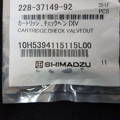 New Shimadzu 228-37149-92 Lc-2010 Div Inlet Check Valve Cartridge