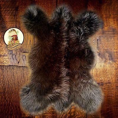 Faux Bear Rugs (Brown Grizzly Bear Skin Faux Fur Pelt Hide Throw Rug Shag Sheepskin Area)
