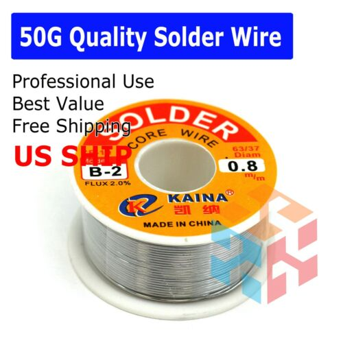 63/37 Tin Lead Line Soldering 0.8mm Rosin Core Solder Flux Welding Wire Reel Hot