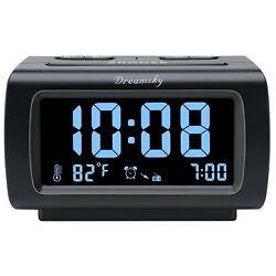 DreamSky Alarm Clock Radio FM with USB Port for Bedroom, 1.2 Inch Bold Digit ...