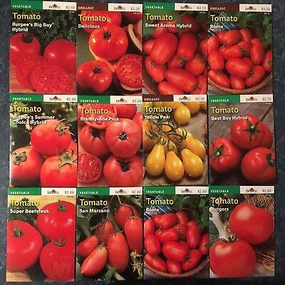 NOW 50!!!% OFF! BURPEE TOMATO SEEDS 12 VARIETIES incl. 3 ORGANIC sbd Nov -